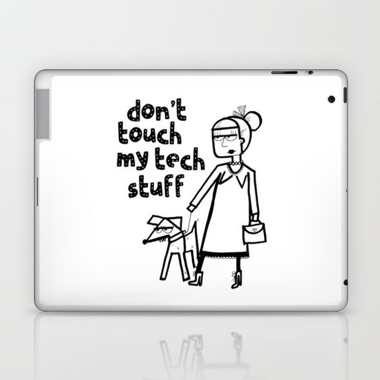 Cool and edgy street style illustration laptop/iPad skin. This skin makes people think twice about using your beloved tech without asking. Click to buy! #laptopskin #techie #affiliate #computer