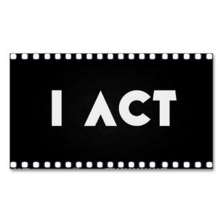 For Actors Business Card Templates