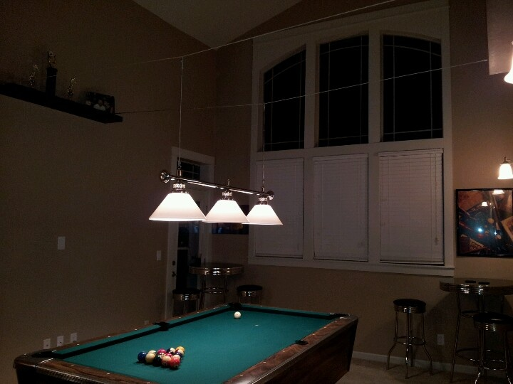 How To Hang Pool Lights Billiard/pool Lights Hung From Side Walls With Cable