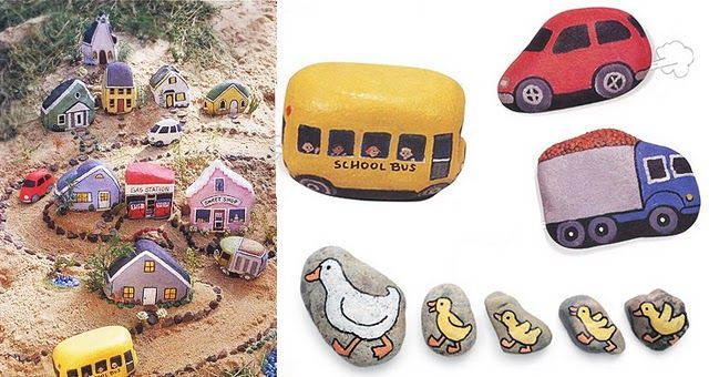 Painted stones for the sandbox....cute idea!!! when will I ever find time for all these wonderful projects!