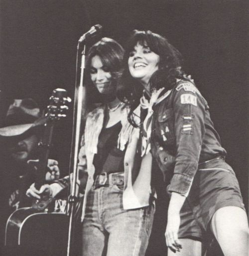Linda Ronstadt and Emmylou Harris