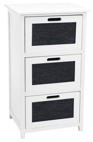 Ikea Hemnes Ladekast Zwart.Ladekast Bjerringbro 3 Lades Zwart Wit Shopping Filing Cabinet