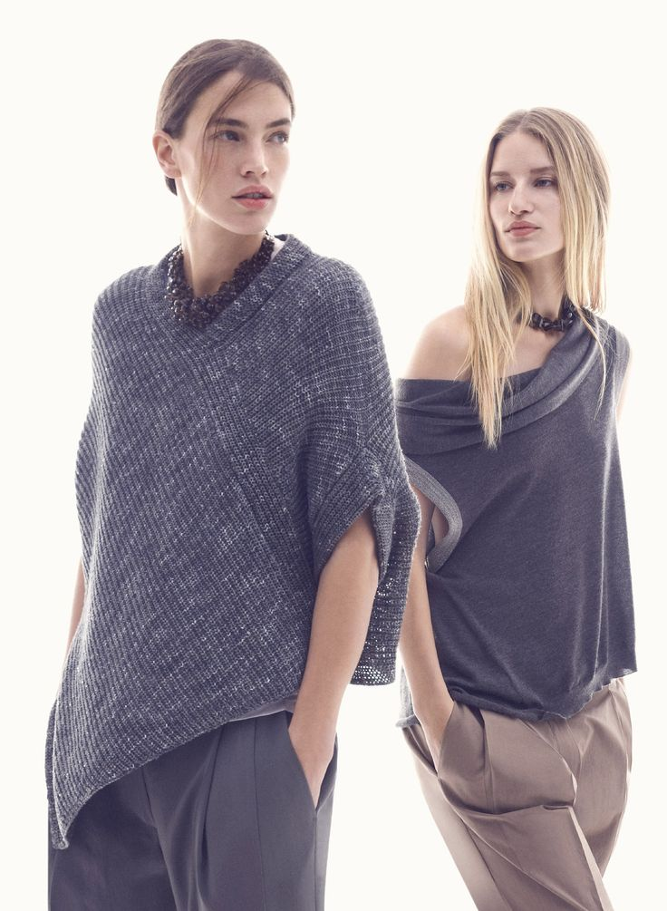10 - both pant , both necklace , top on right . http://boutique.brunellocucinelli.com/us/women/look-10_grd1212