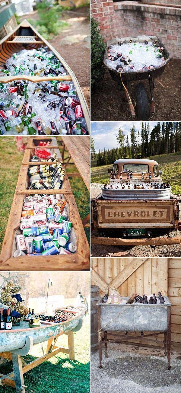 25 kreative Outdoor-Hochzeit Drink Station und Bar…