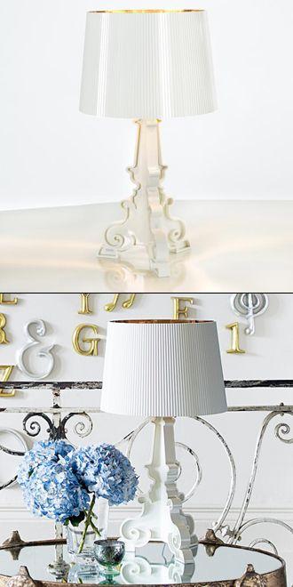 Lampada Bourgie Kartell - Bianca e Oro