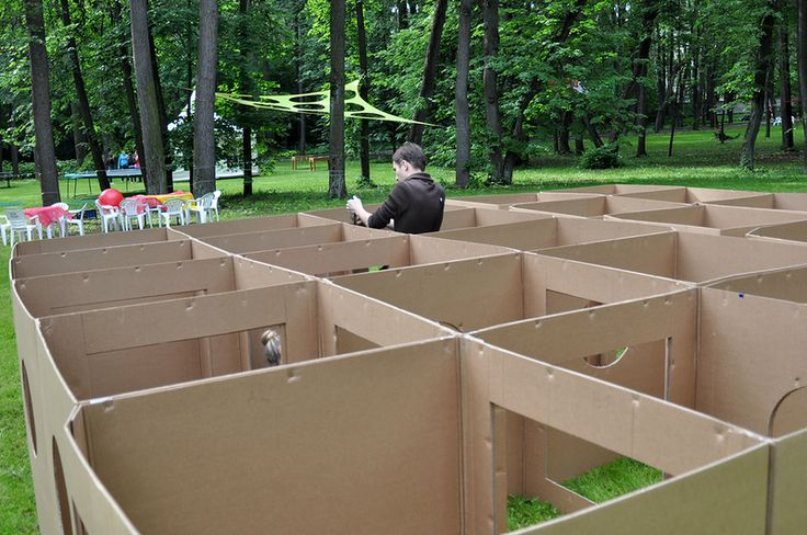 Cardboard_Dad is a Russian architect. Play and grow: http://www.playandgrow.ru/2012/06/big-kids-party-report.html