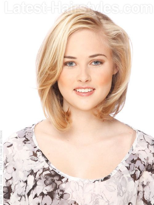 Style for thin hair to try:  blonde-layered-medium-cut