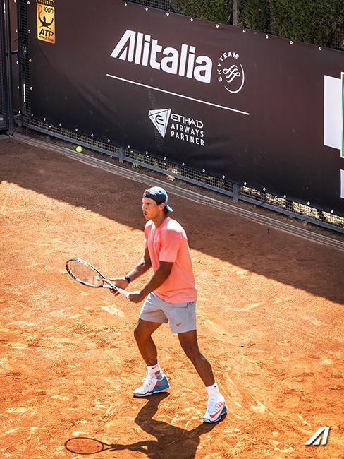 Rafael #Nadal in allenamento sotto al nostro stand agli Internazionali di Tennis di #Roma, Foro Italico #IBI15 #Tennis