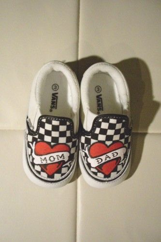 Custom Vans for the little ones. My future kids WILL have these!