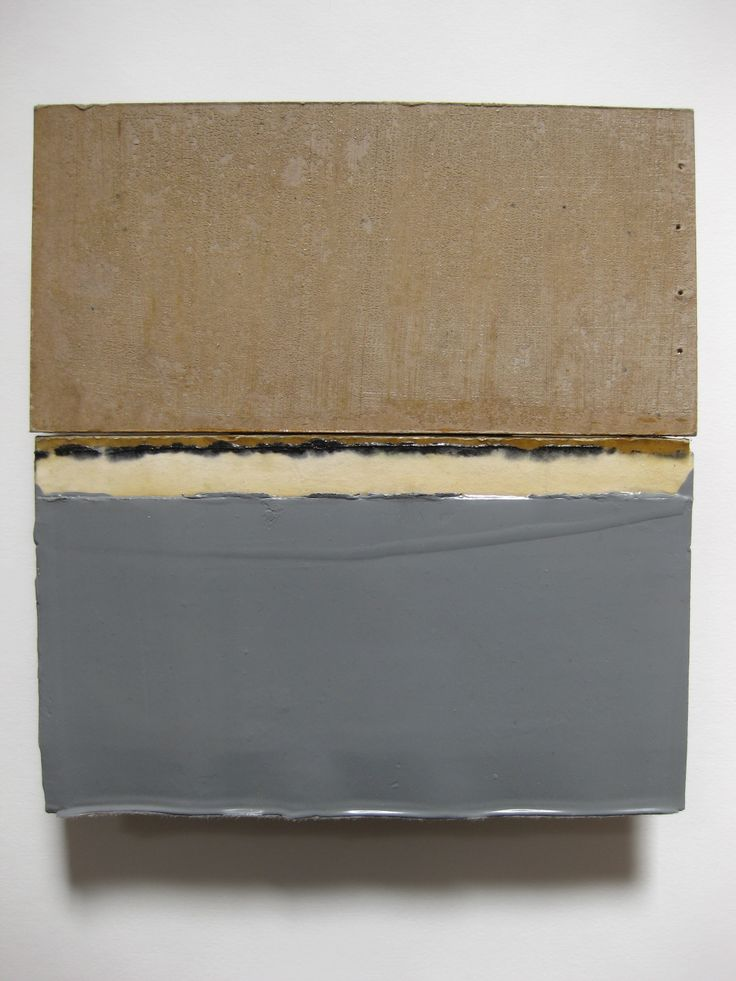 Anna Morris, oil and household paint on card