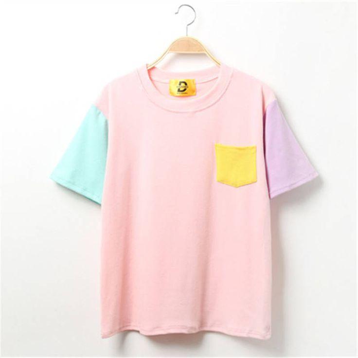Clothing Length: Regular Sleeve Style: Regular Fabric Type: Broadcloth Material: Cotton Collar: O-Neck Sleeve Length: Short Size Table Size Shoulder (cm) Bust (cm) Length(cm) Sleeve (cm) M 45 95 60 19