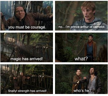 Arthur's face is the best. Also, how did they not realize that Merlin has magic from this?