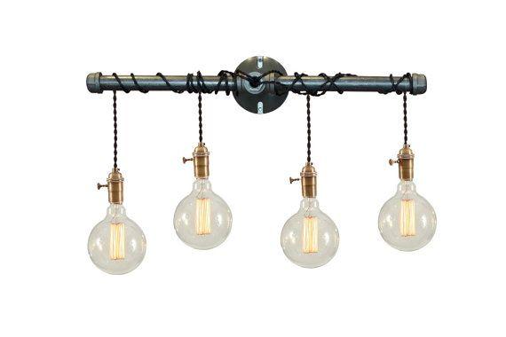 POWDER BATH - Contemporary Light - urban light - mid century light - bohemian decor - boho chic - midcentury sconce - wall light - industrial chic - light