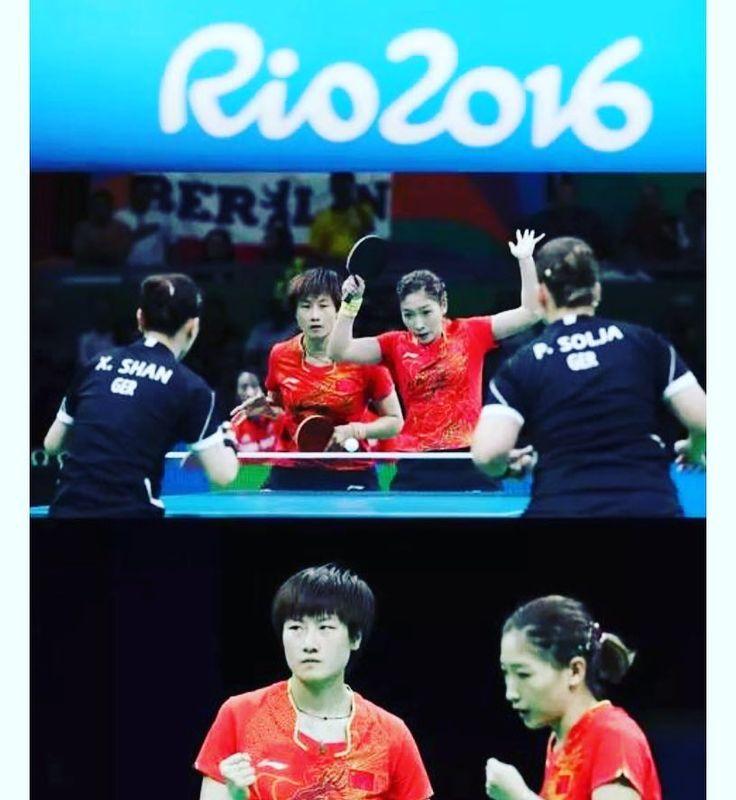 Rio 2016 of China Pingpong day! #pingpong #China #gold #rio #rio2016 #women #olympics #brazil  #samba #makeithappen #countdown #roadtorio #michaelphelps #wirhabeneinziel #timebrasil #football #brasilfootball #rionews #express #sportsnews #instanews #instasports #tbt #like #follow #2016olympics #competition #schedule #Rumba #espanol