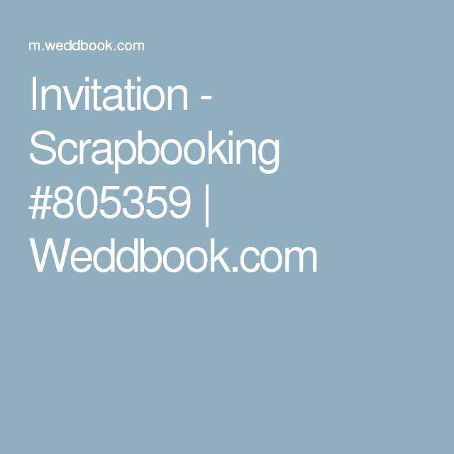 Invitation - Scrapbooking #805359 | Weddbook.com