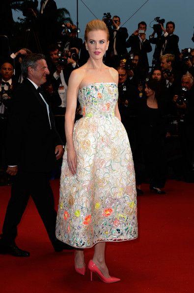 Nicole Kidman con un vestido de lo más primaveral en Cannes 2013. Estaba guapa, si.