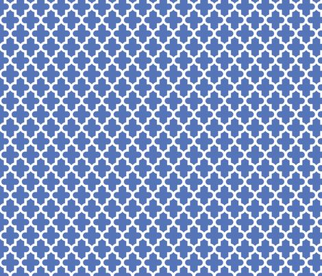 Royal Blue Moroccan fabric by sweetzoeshop on Spoonflower - custom wallpaper- front hall