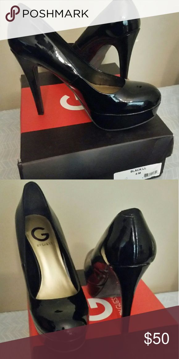 Black Patent High Heel Shoes Brand new. Xposted Guess Shoes Heels