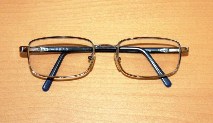 "Original 80s ! Vintage Man Eyeglasses Prescription Lenses ""Prada"" Occhiali da Vista in Metallo Lenti Graduate Vintage Originale Anni 80' di BeHappieWorld su Etsy"