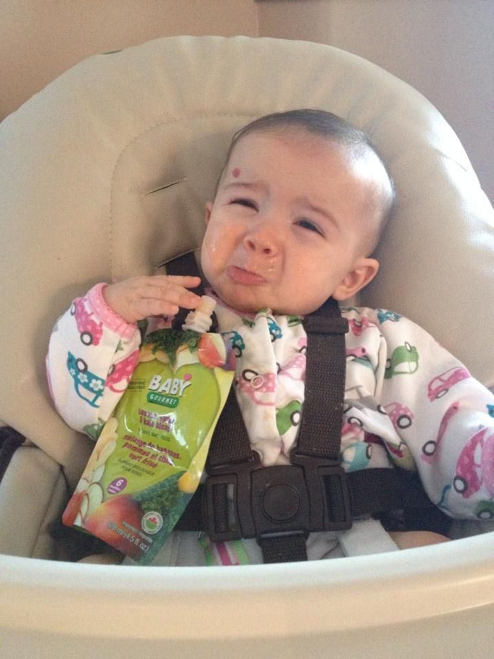 All good things come to an end… Sandra's daughter Nia is upset she finished her Banana, Apple  Kale Blend!