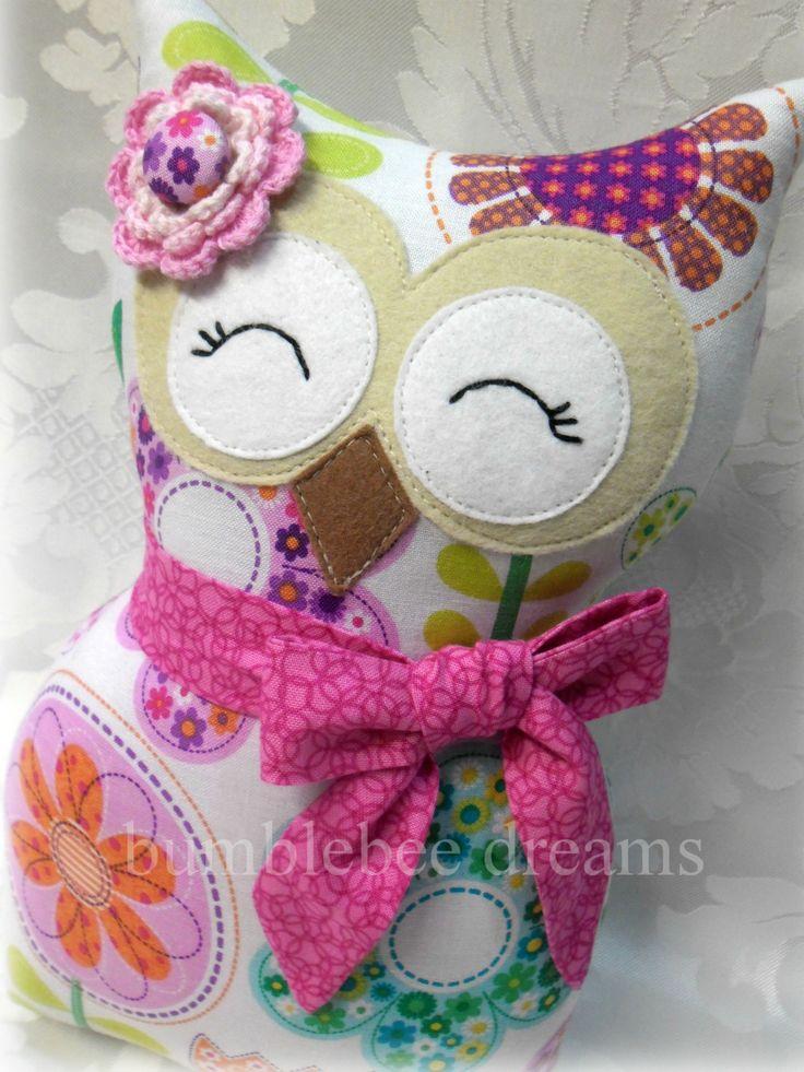 Handmade Owl Softie www.facebook.com/bumblebeedreams