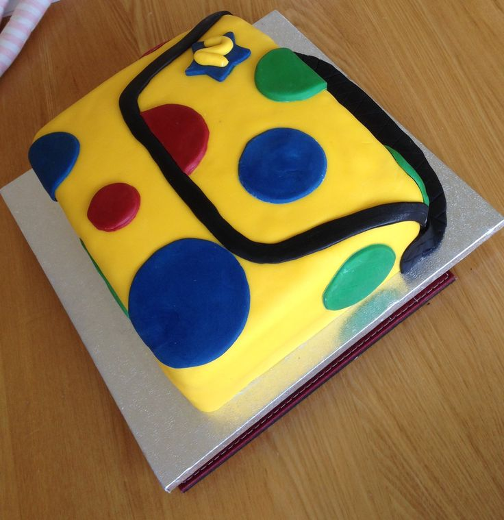 Mr Tumble's spotty bag cake