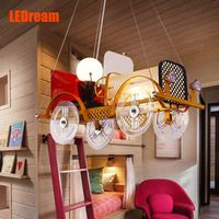 Creativo del fumetto auto lampadario led per camera dei bambini negozio di abbigliamento per bambini ragazzi e ragazze camera da letto lampade di illuminazione e lanterna