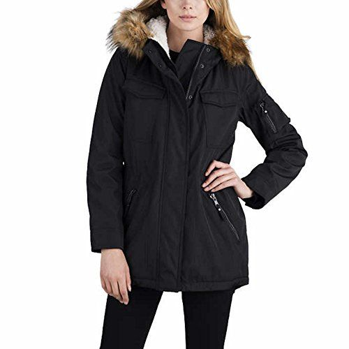 S13 New York Ladies Sherpa Lined Anorak Jacket XL Military Green -- Read more reviews of the product by visiting the link on the image.(This is an Amazon affiliate link and I receive a commission for the sales)