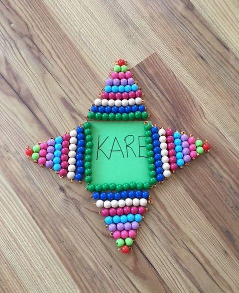 Montessori renkli sayı boncukları ile geometrik şekilleri öğreniyorum  Çiğdem öğretmen