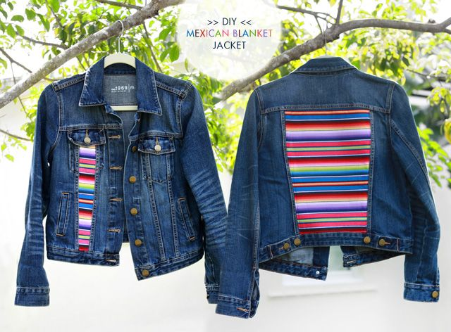 EEEEP! I love this! #diy #fashionCrafts Refashion, Diy Fashion, Jeans Jackets, Mexicans Blankets, Denim Jackets, Diy Clothing, Blankets Jackets, Diy Mexicans, Diyfashion Editing