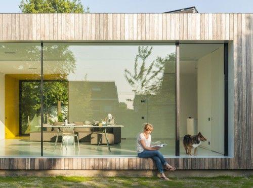 18 best images about idee n voor aanbouw on pinterest wands tes and sliding doors - Uitbreiding huis glas ...