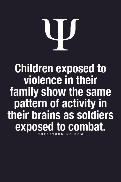 Children exposed to violence in their family show the same pattern on activity in their brains as soldiers exposed to combat