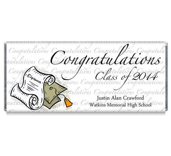 Congratulations High School College 2018 Graduation Favors