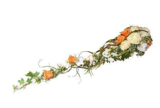 Brudebukett hvit og orange