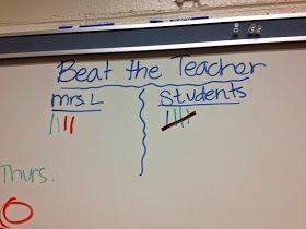 Mrs. Laffin's Laughings: Stop Talking with Beat the Teacher