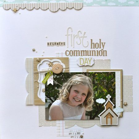 "March 09, 2013 Becky Fleck. - ""First Communion Day"", by Katherine McElvain"