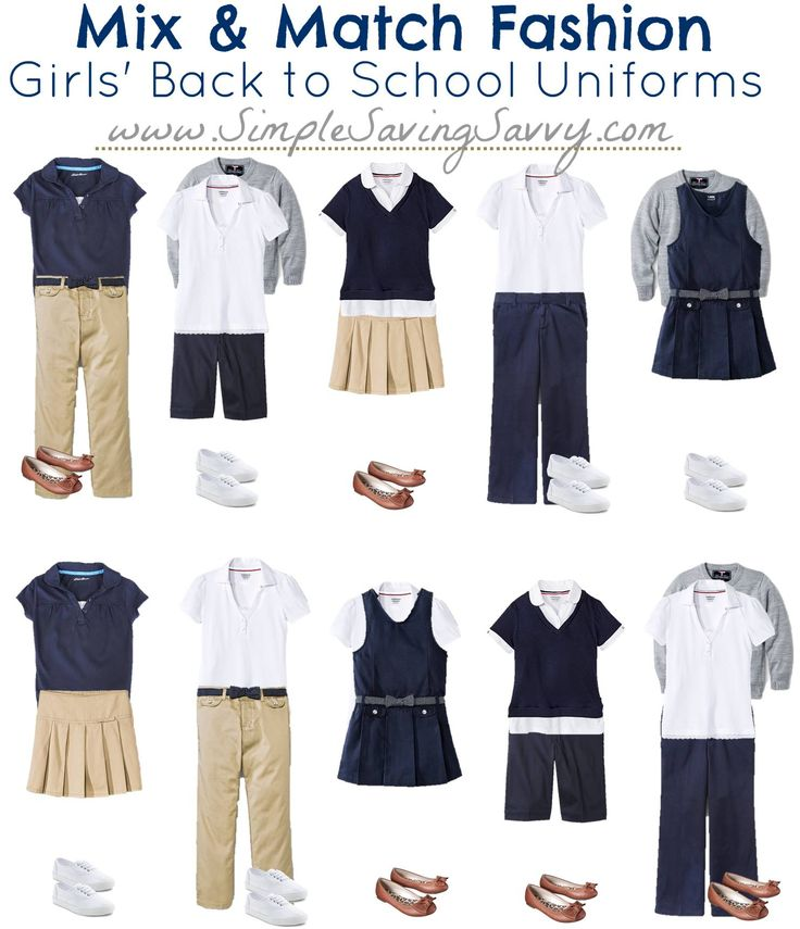 Mix & Match Fashion for School Uniforms from Target