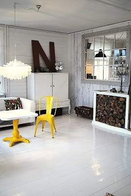 love the yellow tolix chair