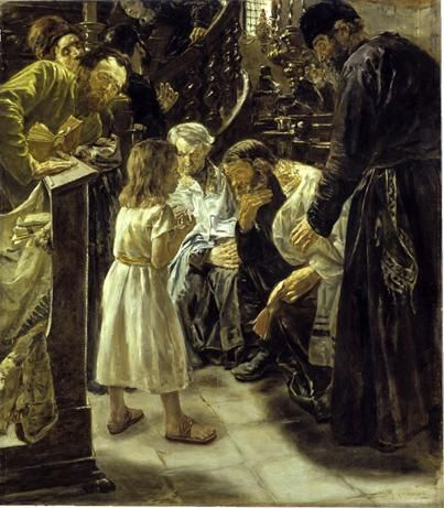 The Twelve-Year-Old Jesus in the Temple by Max Liebermann