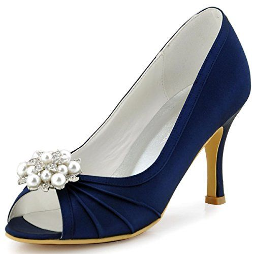 wedding shoes with pearls elegantpark ep2094ae women peep toe high heel removable 1141
