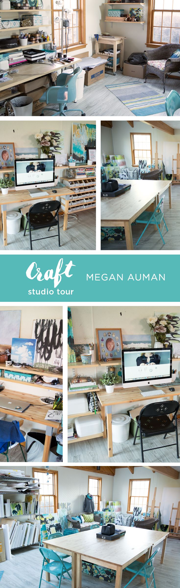 Megan Auman is a wildly successful jewelry-maker and business coach. Get a tour of her studio space and find out how she stays inspired on the CreativeLive blog.