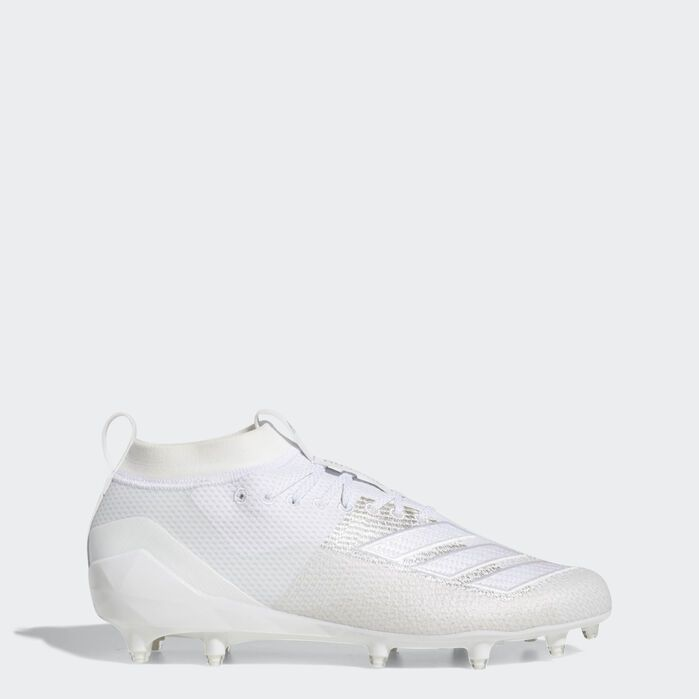 Adizero 8 0 Cleats White Mens Best Football Cleats Football Cleats Football Shoes