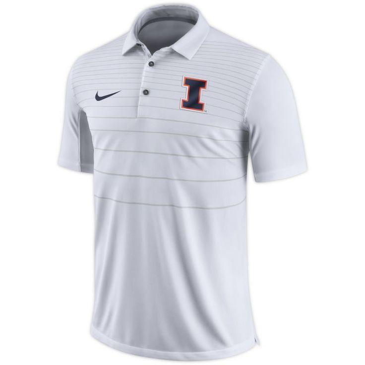 Nike Men's Illinois Fighting Illini White Early Season Football Polo, Size: Large, Team