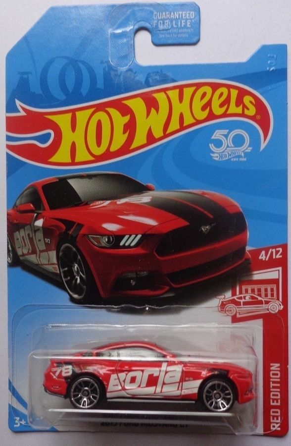 2018 Hot Wheels Red Edition 4 12 2015 Ford Mustang Gt Target