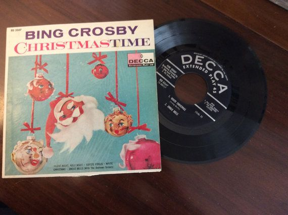 vintage Christmas Tunes ... BING CROSBY by ThriftyDiversions