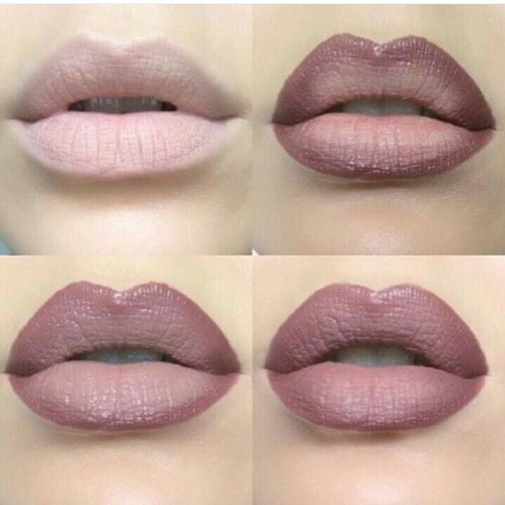 nude/brown ombre lips #howto