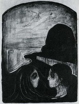 Edvard Munch, Attraction. See The Virtual Artist gallery: www.thesrtistobjective.com