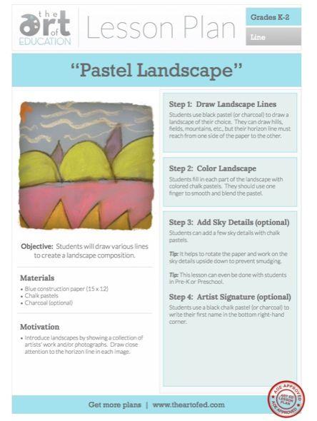 Pastel Landscape: Free Lesson Plan Download