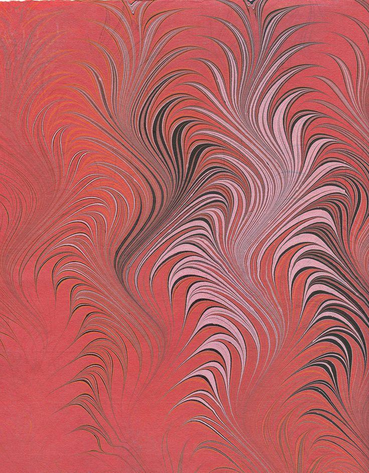 marbled paper © Karli Frigge, Netherlands