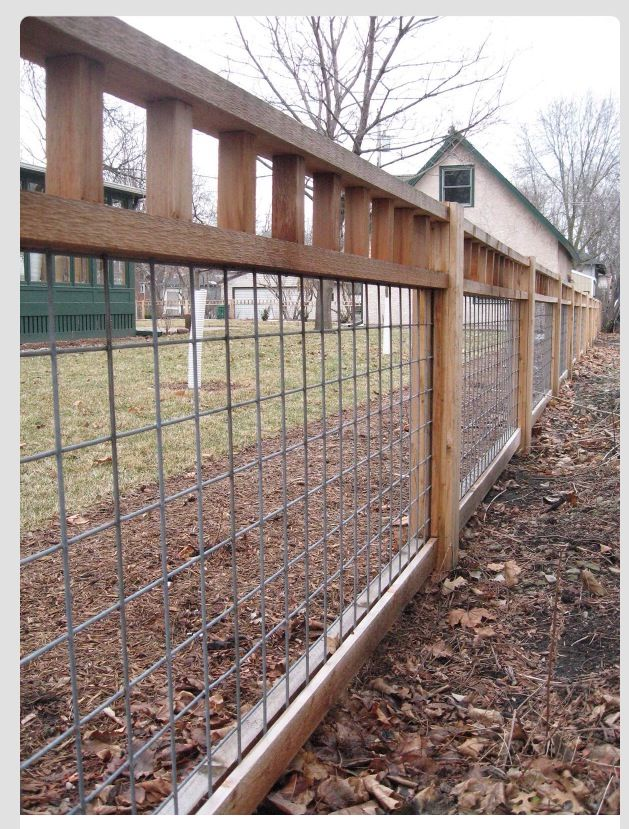 Cattle Panel And Wood Fence Fencing Cheap Garden